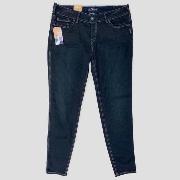 Silver Jeans Denim - Silver Jeans Suki Super Skinny Jeans Dark Wash 34